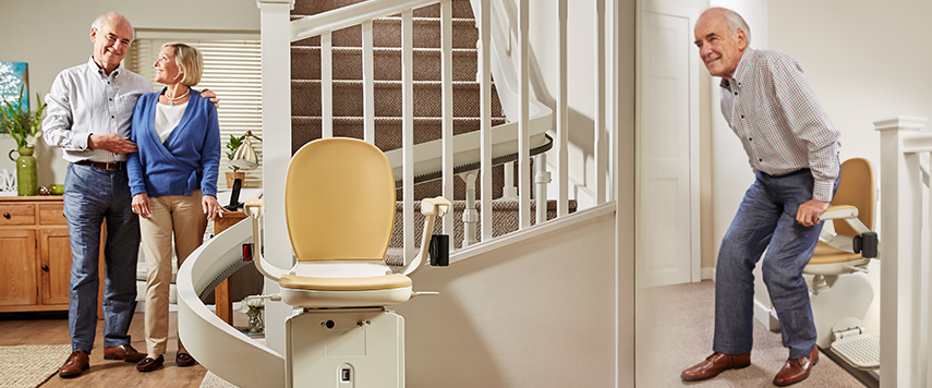 curved acorn 180 stairlift los angeles stairchairs